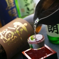 明石の地酒など日本酒も豊富に揃えています。