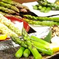 料理メニュー写真北海道産2Lサイズのアスパラ(塩茹で・バター焼き・天婦羅・素揚げ)各種¥