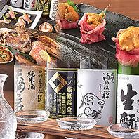 旬の野菜・魚・肉の炉端焼きがお勧め。各地の銘酒と共に
