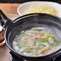 料理メニュー写真鶏白湯 水餃子(白・赤)