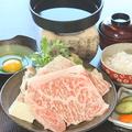 料理メニュー写真常陸牛のすき焼き魯山人風