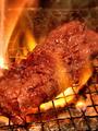 料理メニュー写真炭焼カルビステーキ