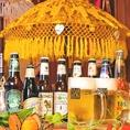 ■ワールドビールフェア開催中!!■世界各国の瓶ビールを屋台ビアホールでお楽しみ頂けます♪