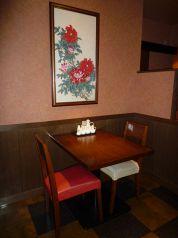 2階レストラン・壁際・ひっそり二人席