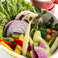 料理メニュー写真チーズフォンデュ野菜