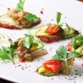 料理メニュー写真真ダコのカルパッチョ 菜園風
