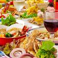 人気の宴会コースは2h飲み放題付2980円~◎新鮮野菜&お魚を贅沢に使用♪大人気、肉バルコースも!女子会・合コン・誕生日会・飲み会等各種ご宴会に◎。お得な飲み放題付コースも多数ご用意。広々個室も多数ございますので、ごゆっくりとご宴会をお楽しみください。