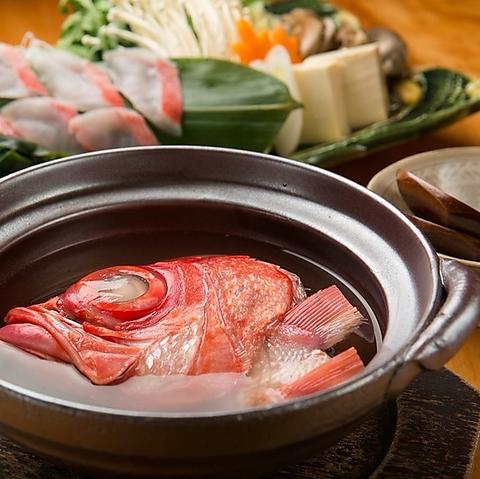 きんめ鯛と厳選食材を一風変わったスタイルでご提供。ちょっとした感動をお届けします