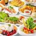 ヘルシーお野菜と色鮮やかなスイーツなど魅せる料理が◎。ワイワイ宴会を楽しもう!女子会・合コン・誕生日会・飲み会等各種ご宴会に◎。お得な飲み放題付コースも多数ご用意。広々個室も多数ございますので、ごゆっくりとご宴会をお楽しみください。