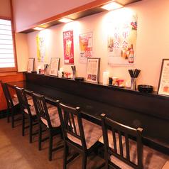 お一人様のサク飲みや、デートにも使えるカウンター席。豊富なアラカルト&ドリンクメニューで、楽しい時間をお過ごしください!