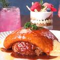 謹製オムライス・お好きなパフェ・お好きなドリンクが選べる☆お得に楽しめるセットを3000円(税抜)でご用意!ふわふわな卵がたまらないオムライスは一度食べてほしい逸品です。