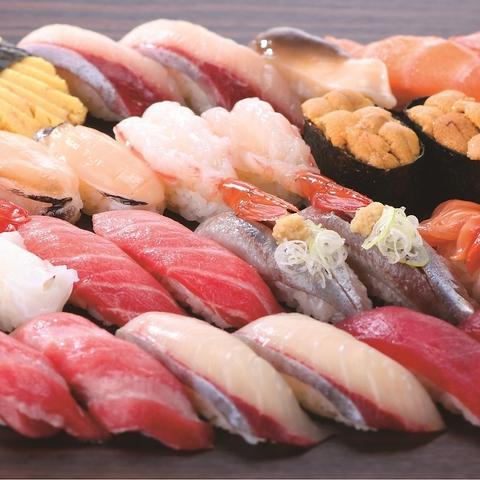 産地直送など鮮度にこだわった、こだわりの寿司をお手軽に。季節限定メニューも豊富♪