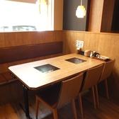 清潔感ある明るい雰囲気の店内♪プライベート感覚でくつろげます。梅田茶屋町・中津エリアでしゃぶしゃぶ食べ放題・飲み放題なら温野菜におまかせ