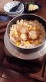 料理メニュー写真帆立貝ととうもろこしの釜飯