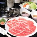 料理メニュー写真国産もち豚しゃぶしゃぶ (120g)