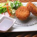 料理メニュー写真オリーブ牛のコロッケ(2個)