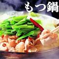 料理メニュー写真牛もつ鍋(しょうゆ、白味噌、白湯)