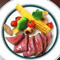 料理メニュー写真黒毛和牛の赤身ステーキ