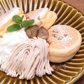 料理メニュー写真≪季節限定≫和栗のモンブランパンケーキ