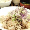 料理メニュー写真豚の生姜焼き定食 マヨorキムチorオロシ