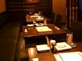 ゆったりとした空間で食事を楽しむ