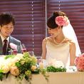 wedding二次会☆テーブル装花手配いたします。雛壇もあり。