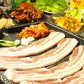 料理メニュー写真サムギョプサル (まきまき野菜セット付)