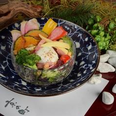 ベーコンと揚げ野菜のシーザーサラダ
