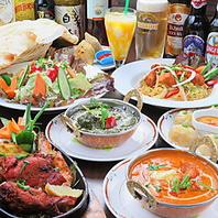 本格的なインド食材、スパイスを使った料理