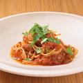 料理メニュー写真芳醇な薫り シンプル ワタリガニのパスタ