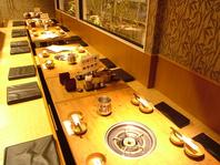 最大25名様までOKのテーブル席!!各種宴会に…。