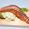 料理メニュー写真ガッツリ肉食★特大!!厚切りベーコン&ポテトサラダ