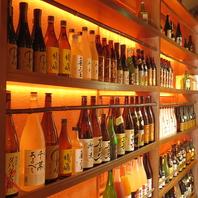 お酒の種類が豊富!日本酒など取り揃えております◎