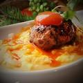 料理メニュー写真黒毛和牛の肉汁つくね とろとろたまごと蘭王ソース