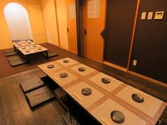 最大24名様までの掘りごたつ個室席です!