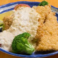 白身魚のタルタルソースかけ