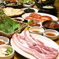 料理メニュー写真三元ブ豚 厚切りサムギョプサル