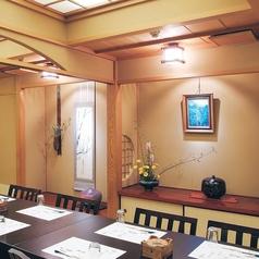 3名様から10名様までご利用いただける個室となっております。落ち着きのある空間になっておりますので、接待や大切な時にもご利用しやすいです。