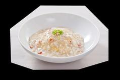 蟹と卵白のあんかけ炒飯