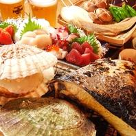 新鮮な魚貝を目の前の七輪で焼くお手軽スタイル