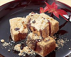料理メニュー写真黒糖わらび餅