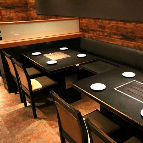 女子会や飲み会、会社宴会などグループでのご利用にもおすすめのテーブル席 。そのほか掘りごたつ式のお座敷をご用意しておりますので、お気軽にご要望をお伝えください♪