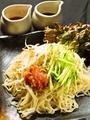 料理メニュー写真汁なし梅冷麺/叶冷麺
