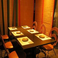 6名様迄の半個室!すだれで区切られた和空間で女子会やコンパなど盛り上がって頂けます。