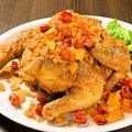 料理メニュー写真鹿児島県産ハーブ鶏のディアボラ風