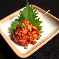 料理メニュー写真チャンジャ(タラの塩辛)