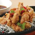 料理メニュー写真さっぱり葱だれの油淋鶏
