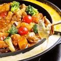 料理メニュー写真チーズフォンデュ タッカルビ