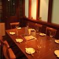 10名様でご利用可能な個室はプライベート空間でお食事が楽しめる!