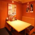 ゆったり寛げるテーブル席☆ [尾久/飲み放題/焼き鳥/ビール/座敷/宴会/飲み会/女子会/デート]